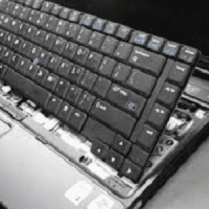 تعویض کیبورد لپ تاپ