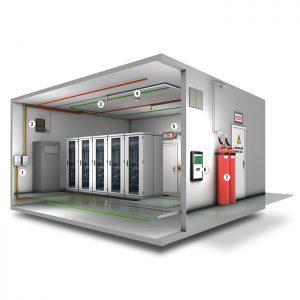 راه اندازی سیستم اطفاء حریق اتاق سرور