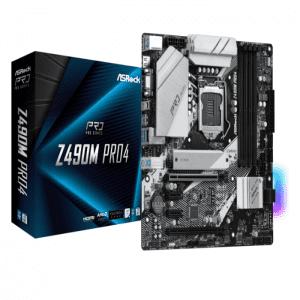 مادربرد ازراک Z490 Pro4 LGA 1200