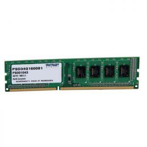 رم کامپیوتر پتریوت 4GB DDR3 1600 PSD34G160081