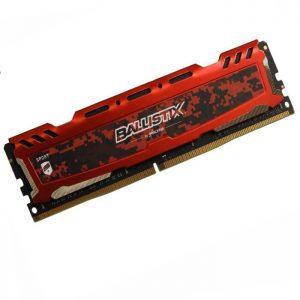 رم کامپیوتر کروشیال Ballistix Sport DDR4 2400MHz Single 4GB